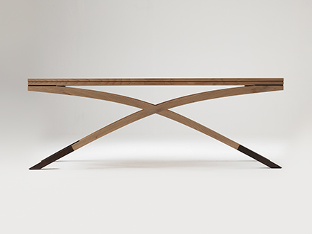 Elm and Bronze Table